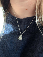 Load image into Gallery viewer, Eco Sterling Silver Botanical Teardrop Necklace