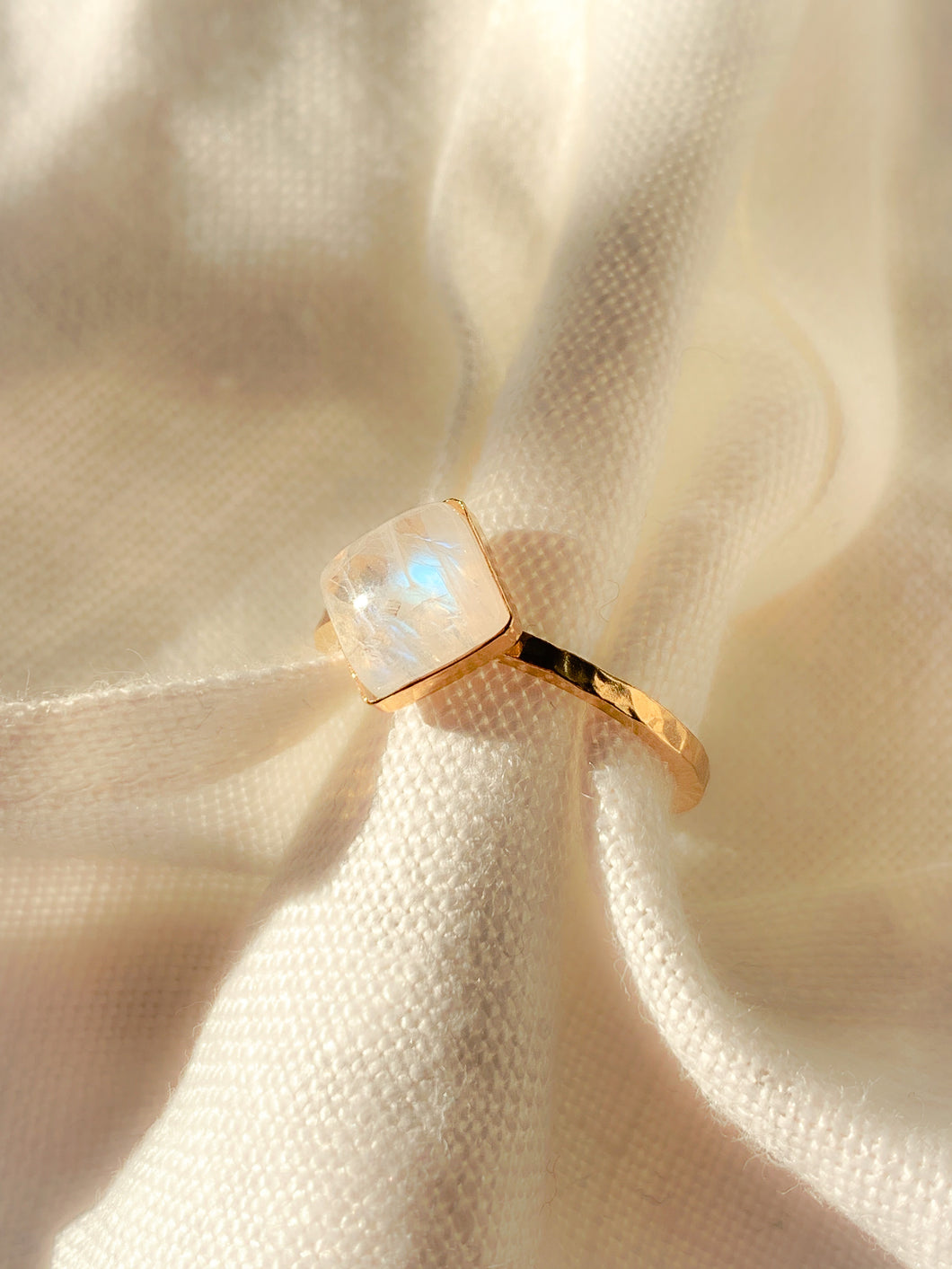 Statement Gold Vermeil Moonstone Ring