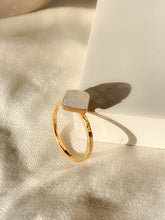 Load image into Gallery viewer, Statement Gold Vermeil Moonstone Ring