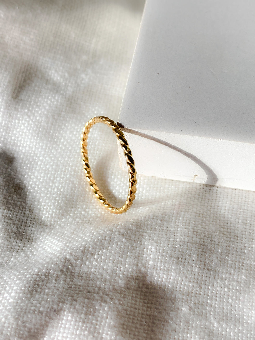 Twisted Hammered Stacker Ring