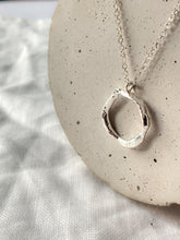 Load image into Gallery viewer, Handmade Sterling Silver Premium Molten Hoop Necklace