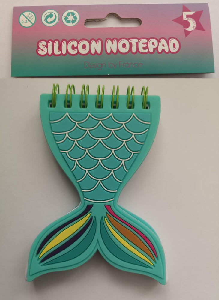 Silicon Mini Notepad - Mermaid Tail