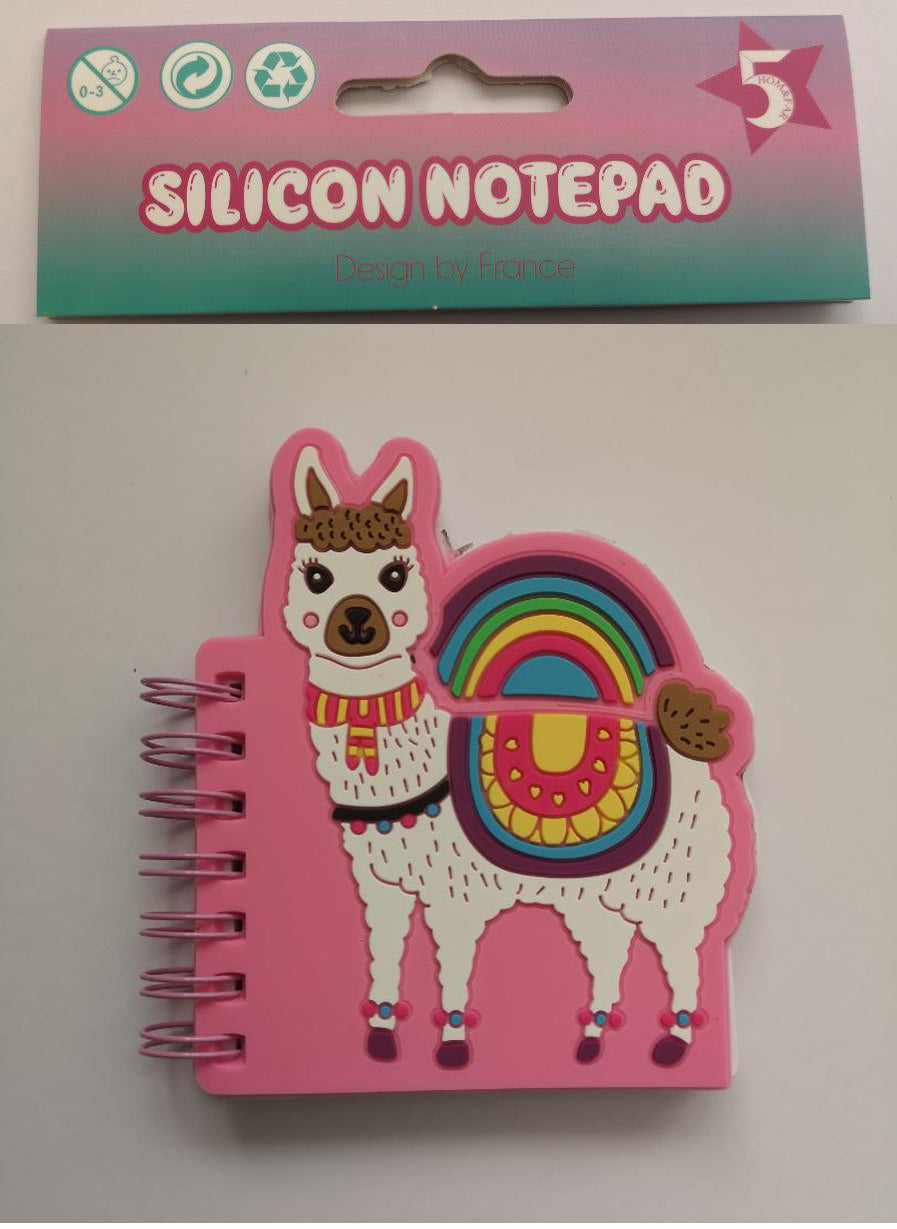 Silicon Mini Notepad - Lama