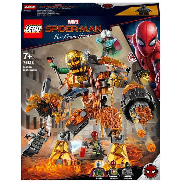 Marvel Spider Man 76128 - Molten Man Battle