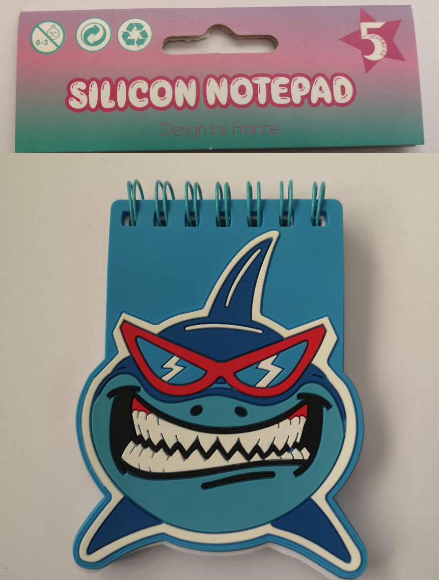Silicon Mini Notepad - Shark