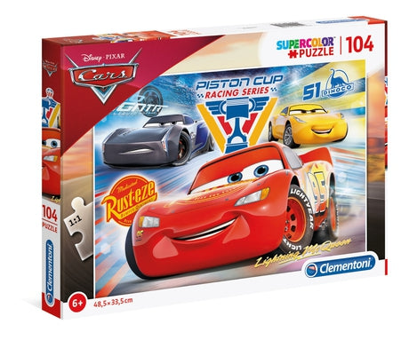 Disney Cars - 104 pcs - Supercolor Puzzle