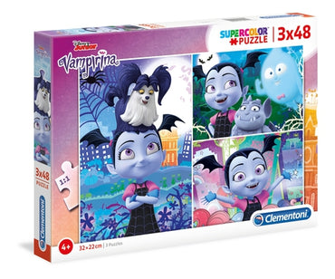 Disney Vampirina - 3x48 pcs - Supercolor Puzzle