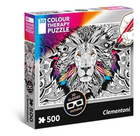 Lion - 500 pcs - 3D Colour Therapy Puzzle