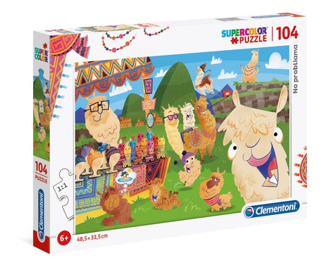 No ProbLLAMA - 104 pcs - Supercolor Puzzle
