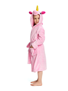 Pink Kid's Unicorn Robe | Christmas Gift for Your Kids