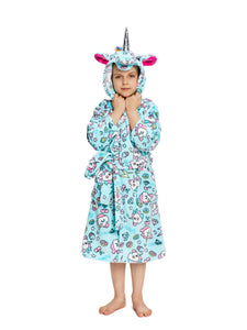 NEWCOSPLAY Unisex Kid's Pink Unicorn Flannel Robe Pajamas