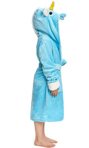 Kid's Blue Unicorn Cosplay Robe | Christmas Gift for Your Kids