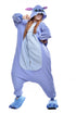 NEWCOSPLAY Unisex Adult Blue Stitch Cosplay Onesie Pajamas- Plush One Piece Costume