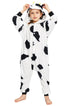 NEWCOSPLAY Unisex Kids Cow Cosplay Onesies Pajamas- Plush One Piece Costume