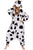 NEWCOSPLAY Unisex Adult Cow Cosplay Onesie Pajamas- Plush One Piece Costume