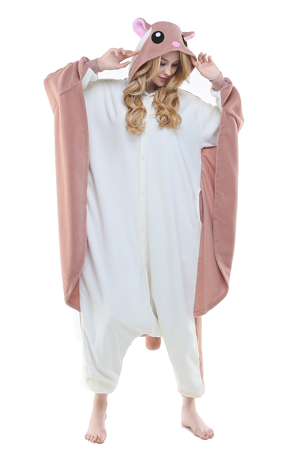 NEWCOSPLAY Unisex Adult Kid Flying Squirrel Pajamas Plush One Piece Costume