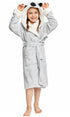 NEWCOSPLAY Unisex Kid's Grey Koala Sherpa Robe Pajamas