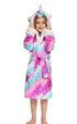 NEWCOSPLAY Unisex Kid's Starry sky Unicorn Cosplay Sherpa Robe Pajamas for Christmas