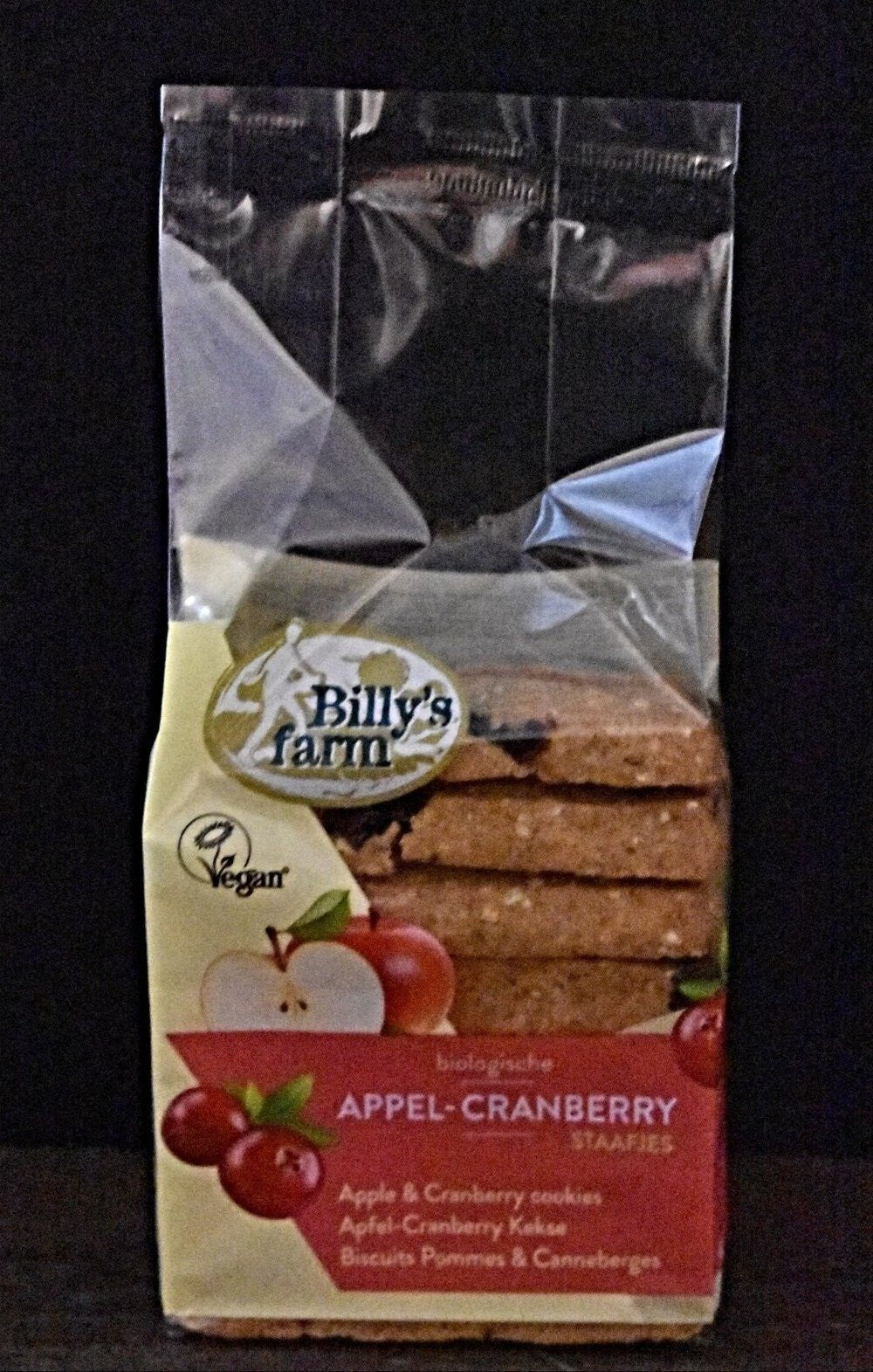 Billy's Farm  Apple & Cranberry Biscuits 175g