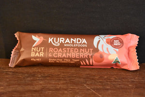 Kuranda Roasted Nut & Cranberry Nut Bar 45g