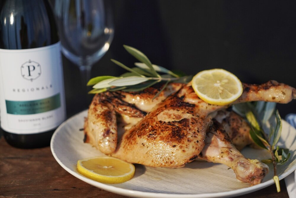 Butterfly Portuguese Whole Chicken Lemon & Herb (1.2kg ready to cook) GF DF