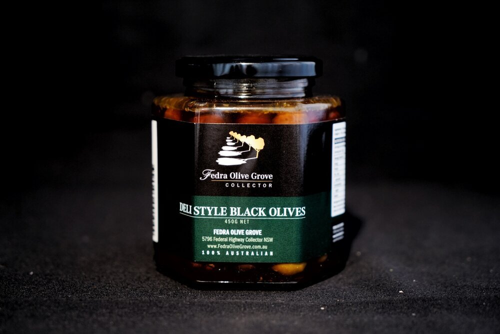 Black Olives 450g Fedra