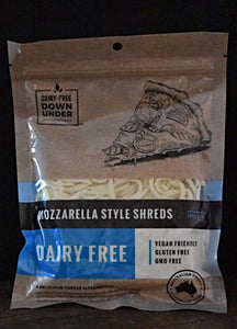 Dairy Free Down Under Mozzarella Style Shredded Dairy Free (vegan) 200g