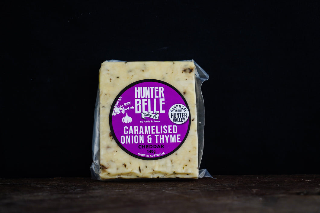 Hunter Belle Caramelised Onion & Thyme Cheddar 140g