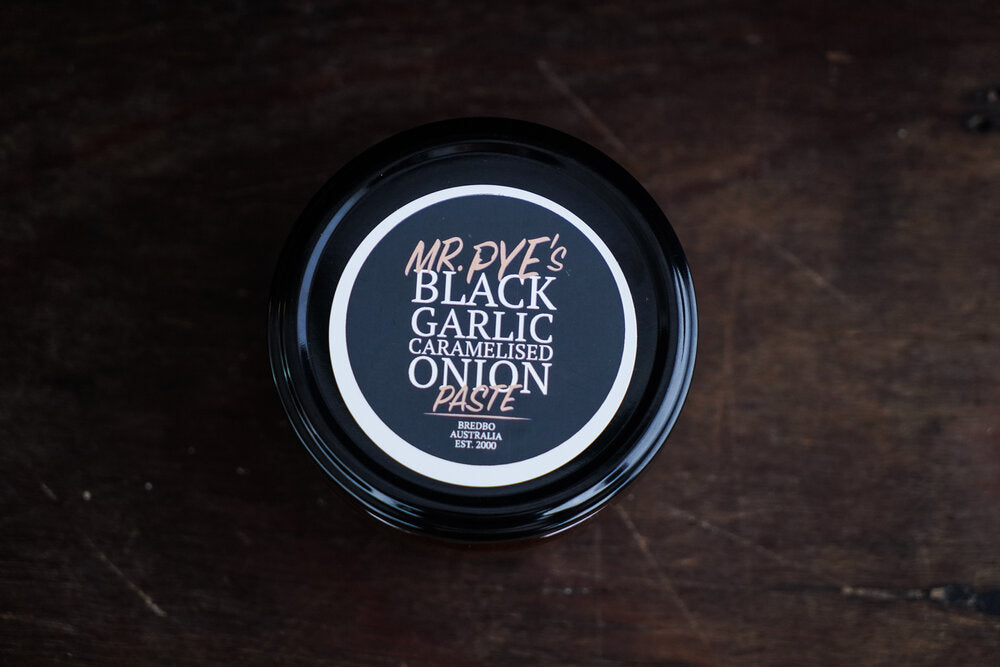 Bredbo Black Garlic Mr Pye's Black Caramelised Onion Paste 220g