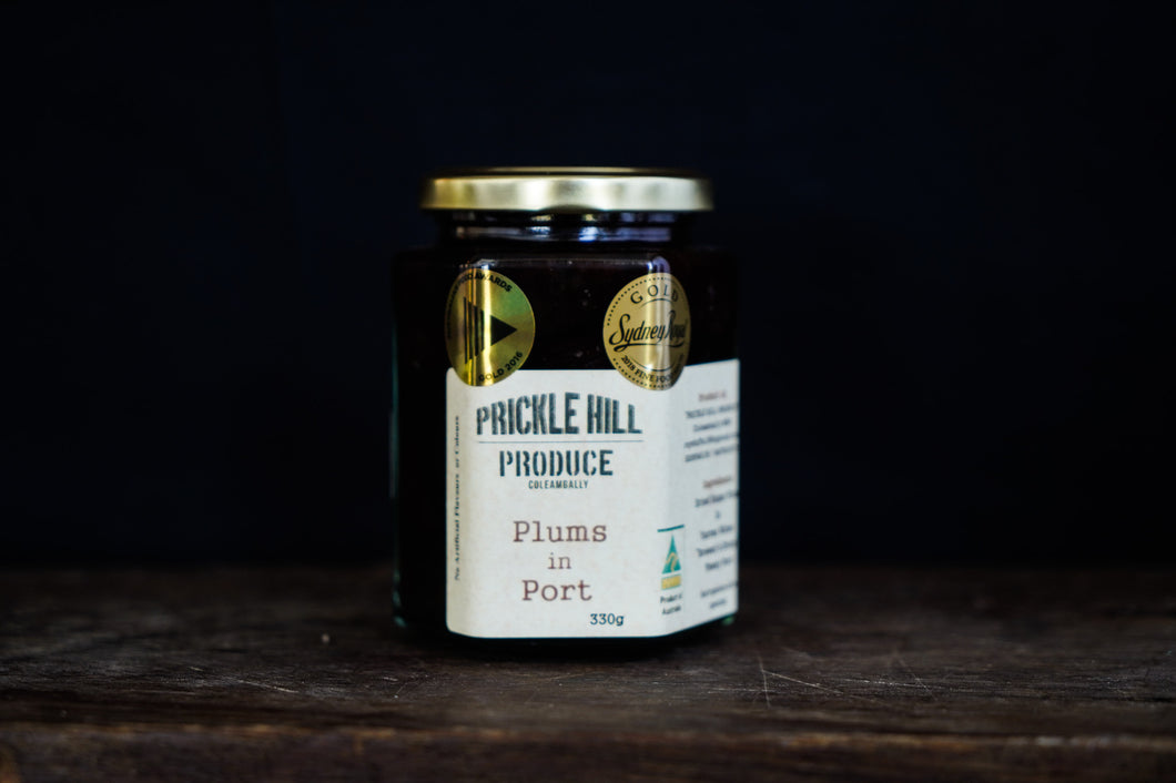 Prickle Hill Produce Plums in Port 330g