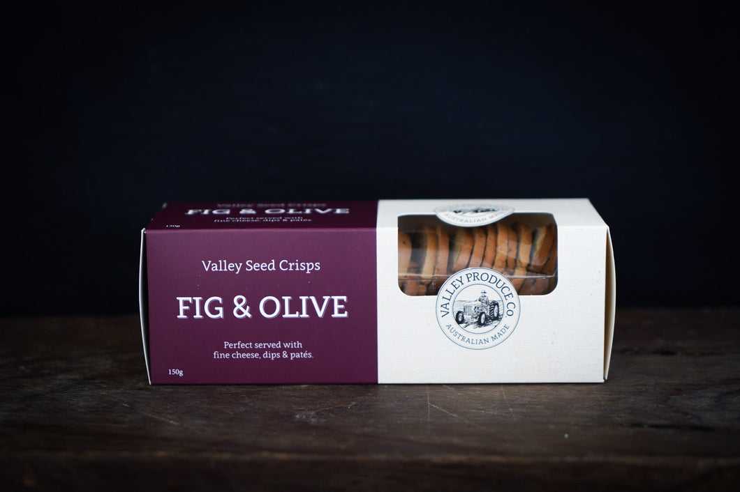 Valley Produce Company Seed Crisps - Fig & Olive 150g