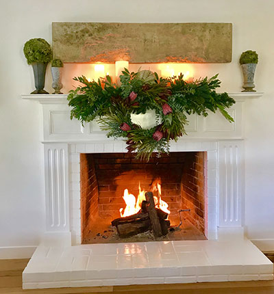 Finding Christmas Inspiration for Your Mantel and Tree in Your Own Backyard
