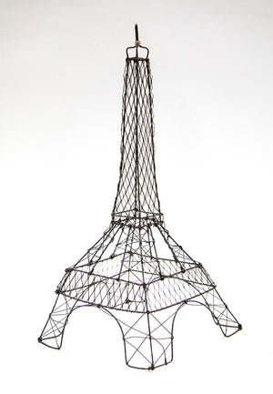 Wonderwall French Paris Eiffel Tower in Galvanized Wire Décor Sculpture