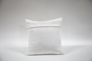 Vintage French Linen Pillow Crisp White with Down Inserts by Wonderwall