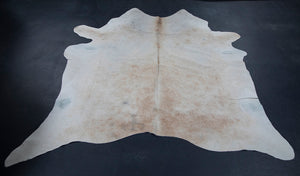 Wonderwall Home Decor Cowhide Beige and White Rug or Fabric