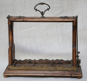Wonderwall Decanter holder wood and brass antique made in Italy