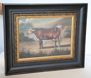 Wonderwall Content Cow Pierre Deux oil on canvas painting