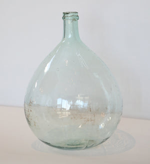 Wonderwall - Small Round Clear Glass Demijohn