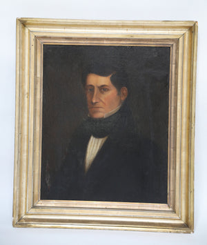 Ancestral Gentleman Oil Portrait with 4 inch Gold Frame