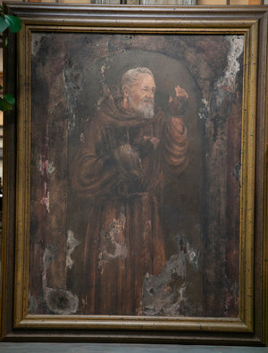 Priest Ancestral Portrait Oil on Canvas Art