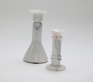 Wonderwall Home Decor - Carerra Marble Taper Candle Stick