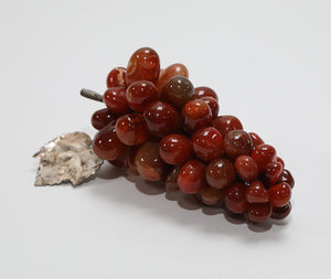 Wonderwall - Polished Rust Colored Grapes with Silver Leaf