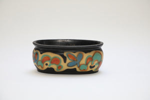Wonderwall - Hand Painted Floral German Ceramic Oval Pot
