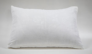 Wonderwall Home Decor and Fine Furnishings Vintage French Linen Pillow Crisp White with Down Inserts