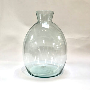 Wonderwall Home Decor and Fine Furnishings Short Wide Hand Blown Artisan Vase