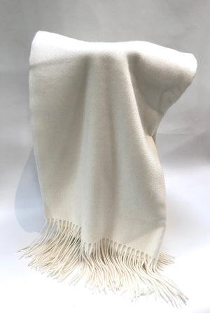Off White Cashmere Woven Throw from Wonderwall Home Decor and Fine Furnishings