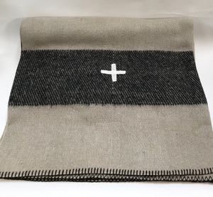 Taupe with Black Stripe and White Cross from Wonderwall Home Decor and Fine Furnishings