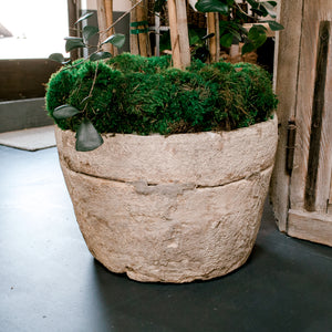 Wonderwall - Round Irregular Hand Carved Limestone Planter