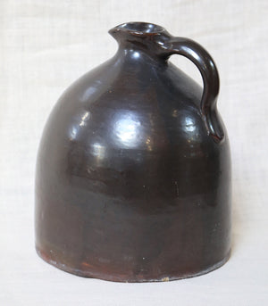 Wonderwall Glaze Stoneware 19th Century brown moonshine whiskey jug
