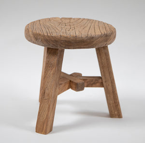 Handmade Small Wooden Stool  by Wonderwall Fine Furnishings